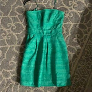 Banana Republic Strapless emerald green  dress 8